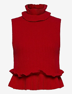 Rib Knit - knitted vests - flame scarlet