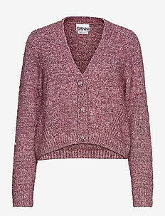 Chunky Glitter Knit - cardigans - pink nectar