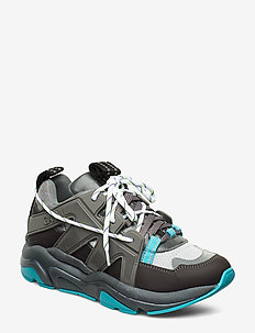 Tech Sneakers - chunky sneakers - charcoal grey