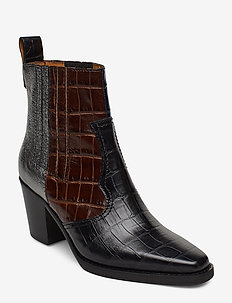Western Ankle Boots - MULTICOLOUR