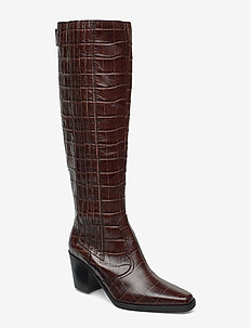 Western Knee High Boots - CHICORY COFFEE