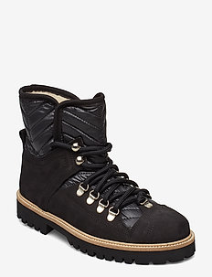 Winter Hiking Boots - platta ankelboots - black