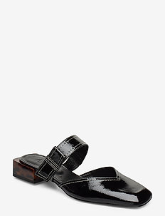 Strappy Flats - mules & slipins - black