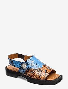 Texas Sandals - platte sandalen - brunnera blue