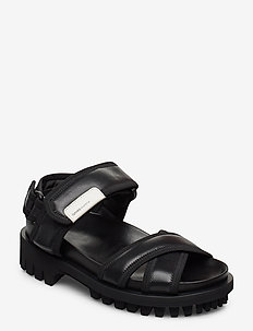 Hiking Sandals - platte sandalen - black