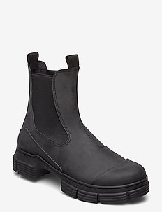 City Boot Recycled Rubber - korolliset nilkkurit - black