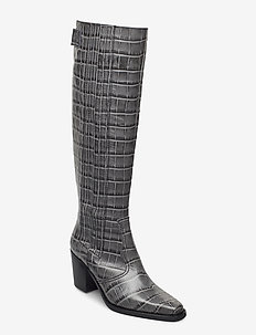 Western Knee High - long boots - phantom
