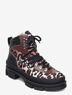 Sporty Boot - flade ankelstøvler - leopard