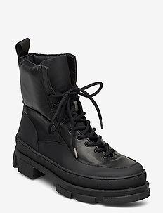 Boot - flade ankelstøvler - black