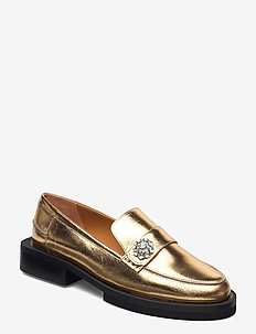 Metallic Leather - mocassins - gold