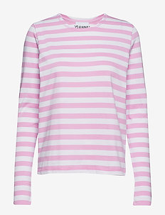 Striped Cotton Jersey - MOONLIGHT MAUVE