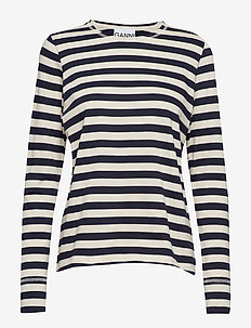 Striped Cotton Jersey - NATURE/DRESS BLUES