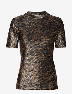 Lurex Jersey T-shirt - TIGER