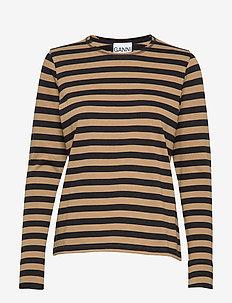 Striped Cotton Jersey - TIGER'S EYE