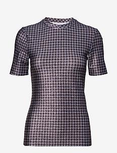 Lurex Jersey - t-shirty - brunnera blue