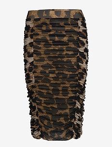 Printed Mesh - midi kjolar - maxi leopard
