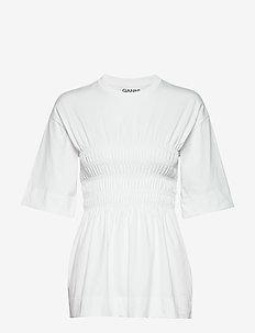 Basic Cotton Jersey - t-shirty - bright white