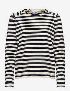 Striped Cotton Jersey - topy z długimi rękawami - brazilian sand