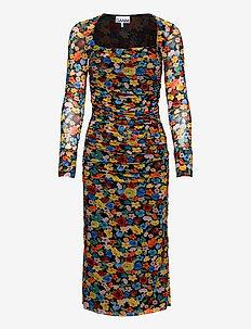 Printed Mesh - sukienki do kolan i midi - multicolour