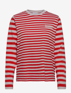 Thin Software Striped Jersey - t-shirts & tops - high risk red