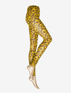 Printed Mesh - leggings - spectra yellow