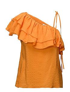 Wilkie Seersucker - Turmeric Orange