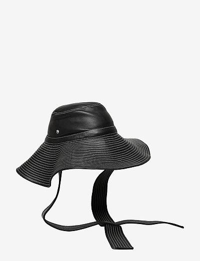 Lamb Leather Accessories - hatte - black