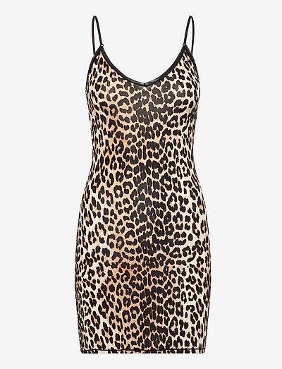 Slip Dress - bodies & slips - leopard