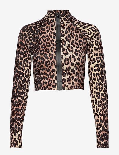 Recycled Crisp Swimwear - langærmede toppe - leopard