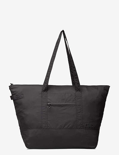 Recycled Tech Fabric Bags - tote bags - black