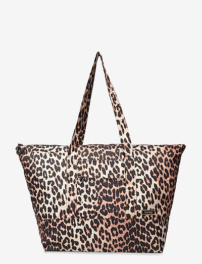 Recycled Tech Fabric Bags - tote bags - leopard
