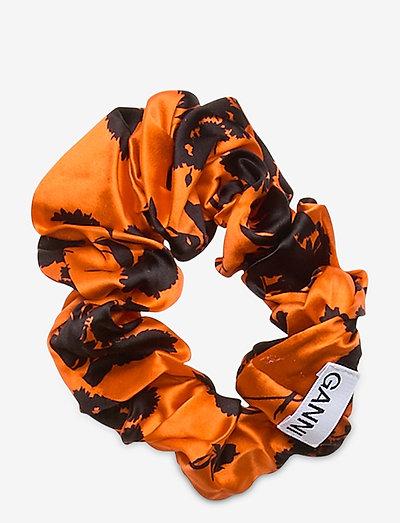 Silk Stretch Satin - accessories - flame