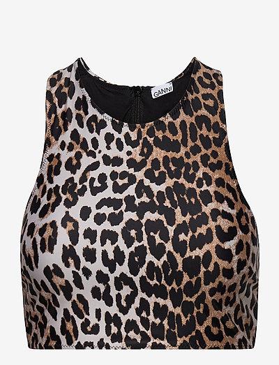 Recycled Printed - bikini tops - leopard