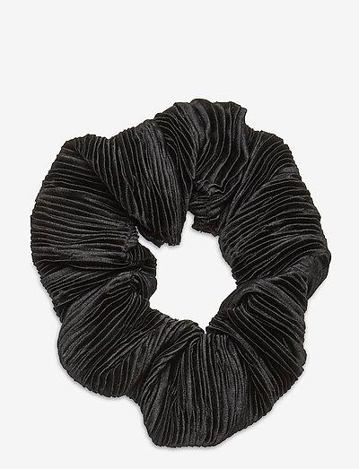 Pleated Satin - accessories - black