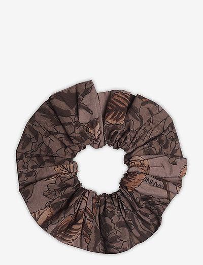 Printed Cotton Poplin - scrunchies - fossil