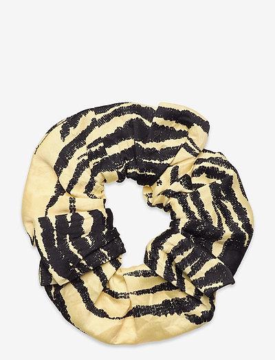 Crinkled Satin - scrunchies - pale banana