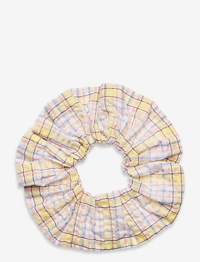 Seersucker check - scrunchies - multicolour