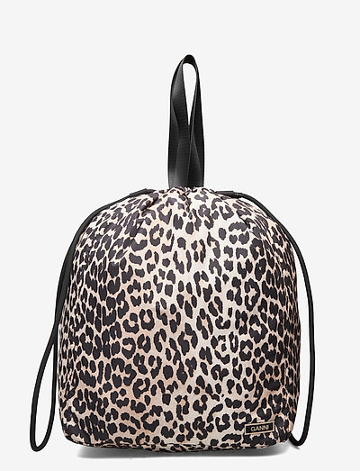 Recycled Tech Fabric Bags - tasker - leopard