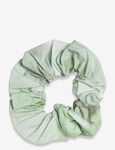 Printed Cotton Poplin - scrunchies - kelly green