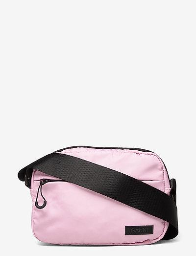 Seasonal Recycled Tech Fabric - crossbody bags - pink nectar