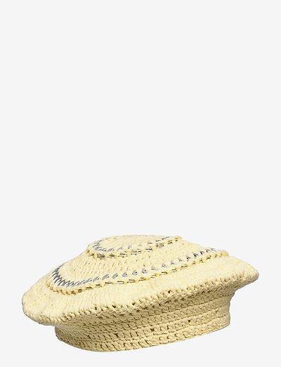Cotton Knit - bucket hats - pale banana