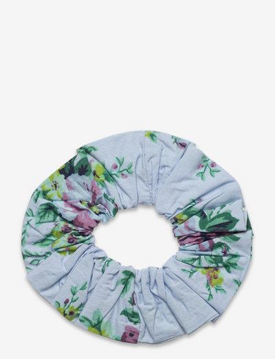 Printed Cotton Poplin - scrunchies - heather