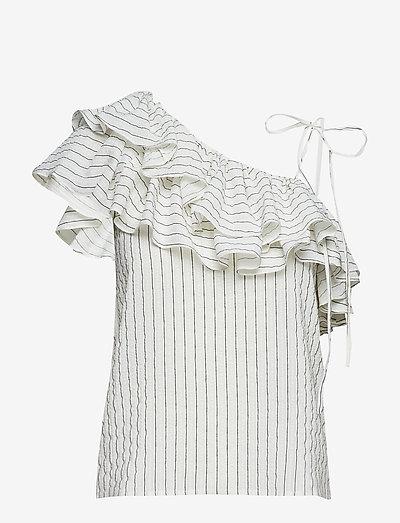 Wilkie Seersucker - blouses zonder mouwen - vanilla ice