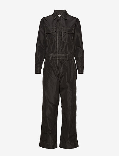 Recycled Polyester Jumpsuit - clothing - black