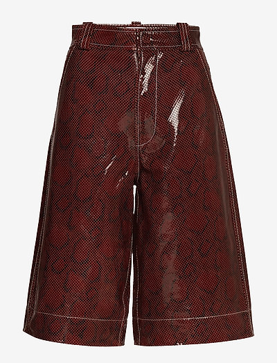 Snake Foil Leather - læder shorts - decadent chocolate