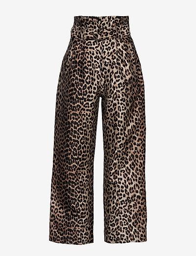 Crispy Jacquard - bukser med brede ben - phantom
