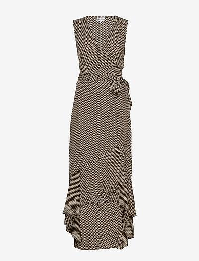 Printed Crepe - slå-om-kjoler - tannin