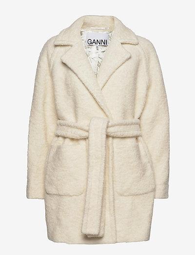 Boucle Wool - wool jackets - egret