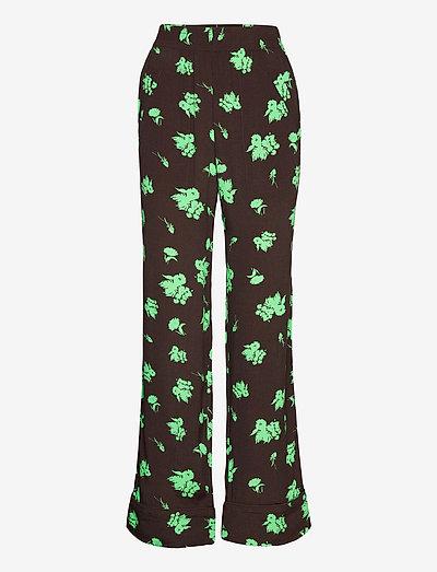 Printed Crepe - bukser med brede ben - mole