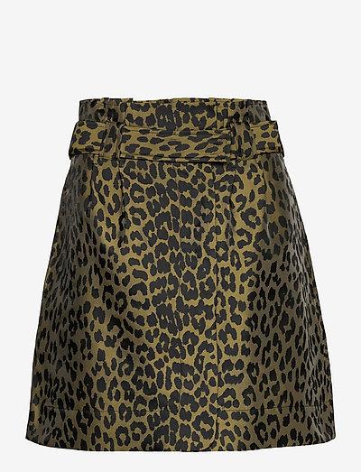 Crispy Jacquard - korte nederdele - olive drab